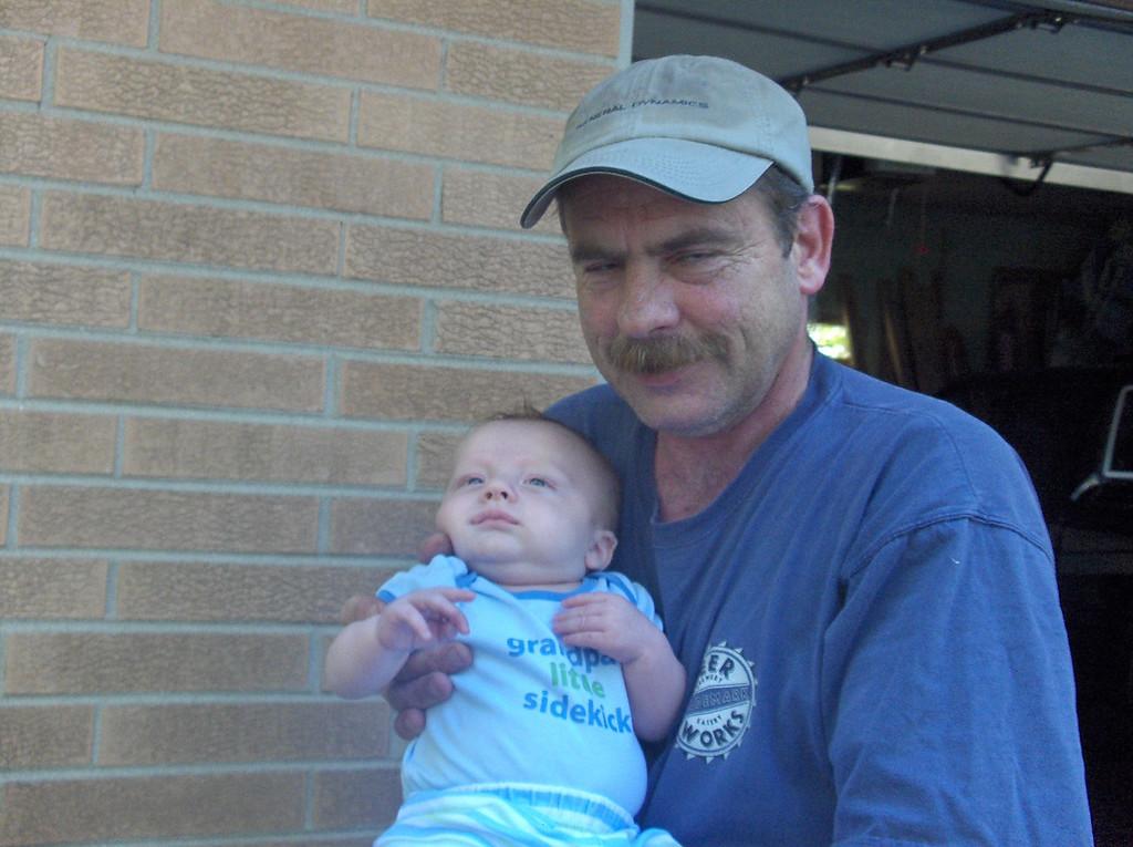 Soren Swenson and Grandpa August 2008