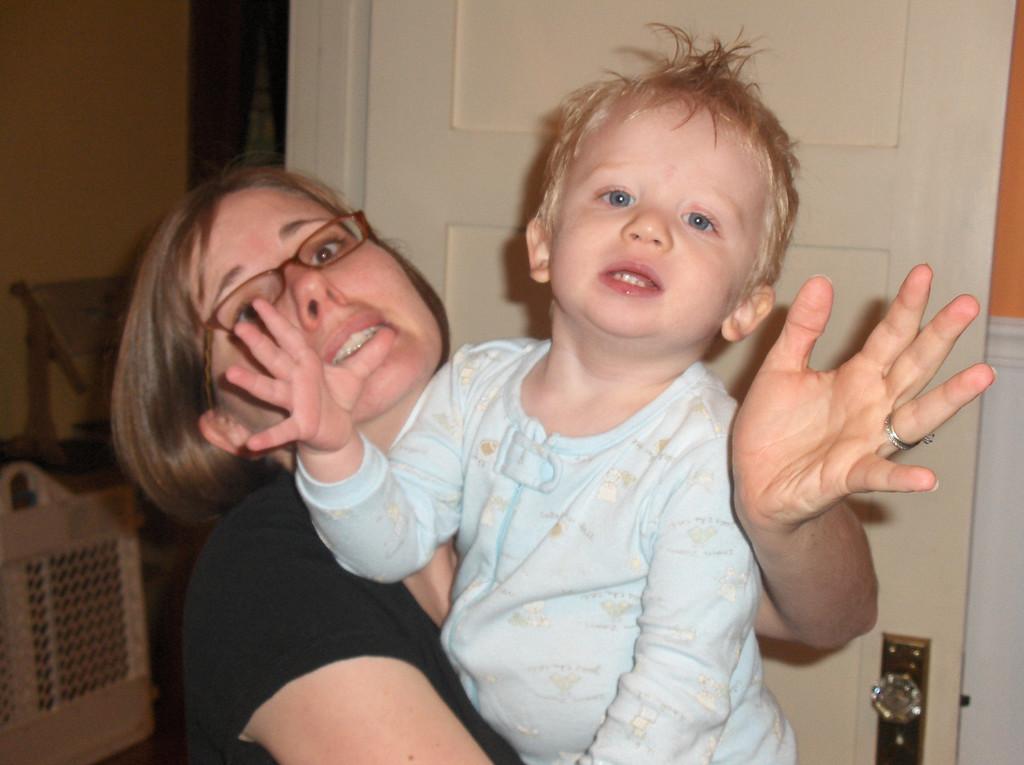 Elliott with Mommy