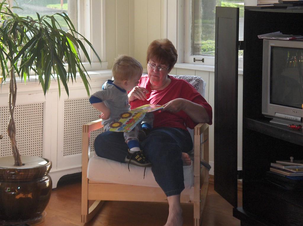 Elliott Swenson with Grandma JJ. May 2008