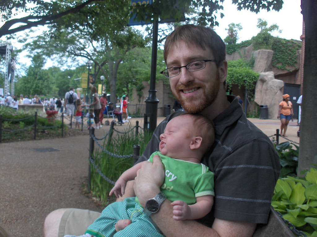 Joshua and Soren Swenson at the Lincoln Park zoo in Chicago.  June 2008