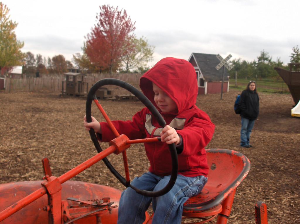 Elliott at Edward's Apple Orchard.  October 2008