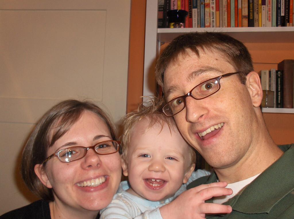 Elliott Swenson with Jennifer and Joshua Oct. 2007 Age 18 months