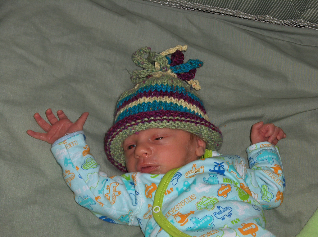 Soren Swenson.  Hat made by Erin Berry, May 2008