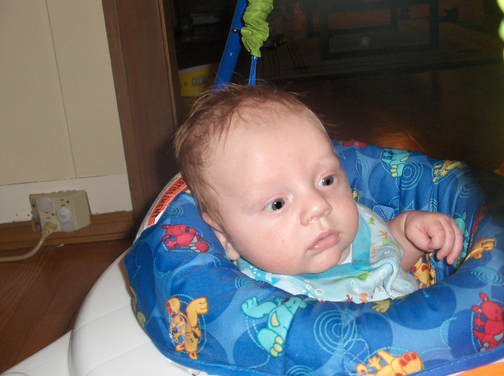 Soren Swenson in the Jumperoo.  July 2008