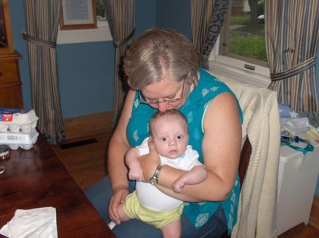 Soren Swenson with Grandma Lynn Oldenburg.  July 2008