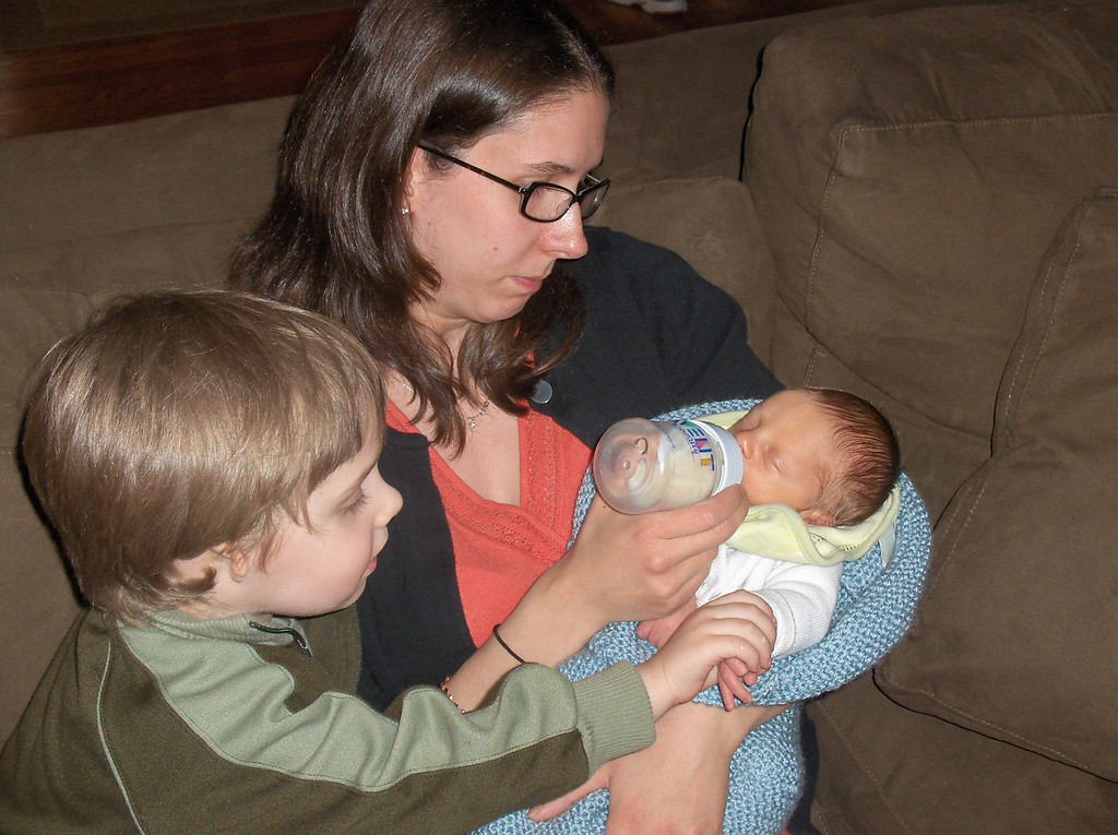 Soren Swenson with Sarah and Gavin Oldenburg, May 2008