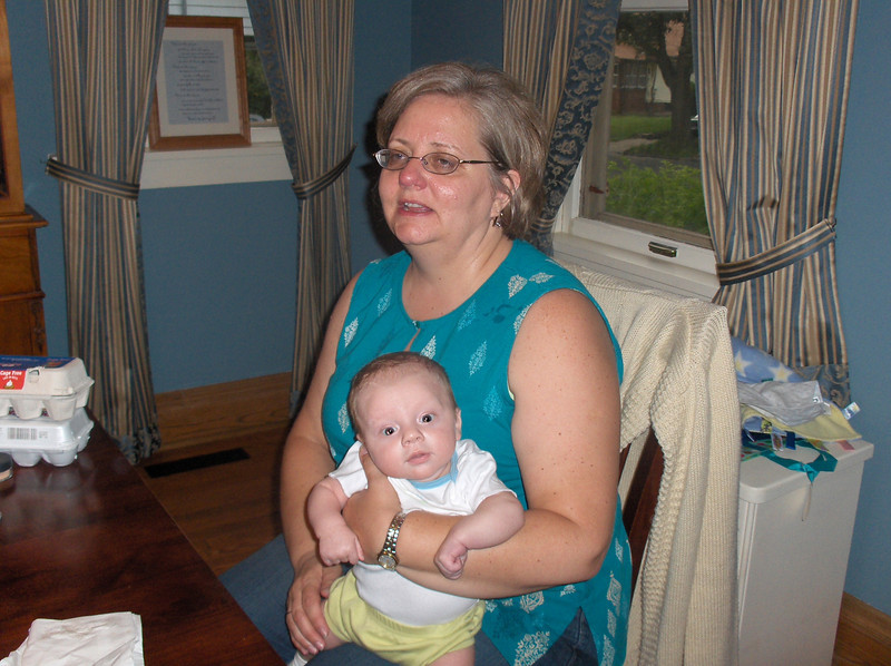 Soren Swenson with Grandma Lynn Oldenburg.  July 2008