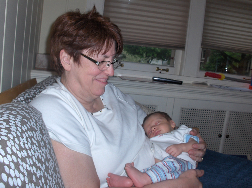 Soren Swenson with Grandma JJ. May 2008