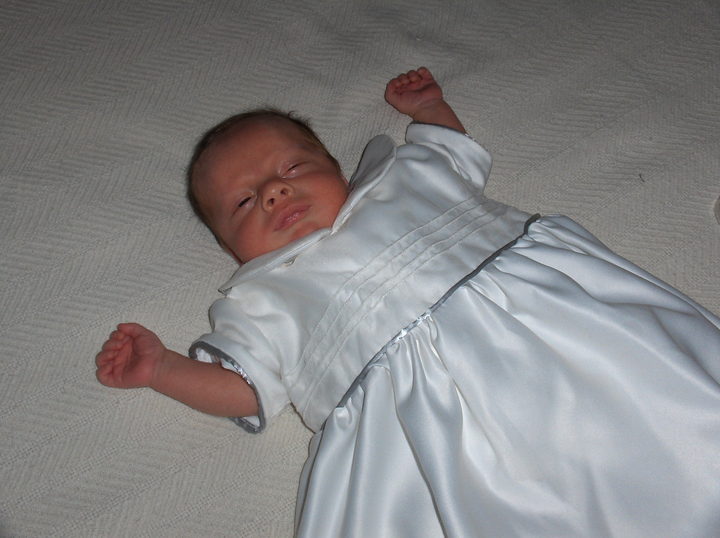 Soren Swenson in baptismal gown, June 2008