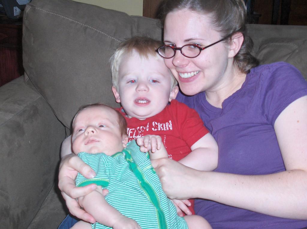 Soren, Elliott, and Jenny Swenson, June 2008