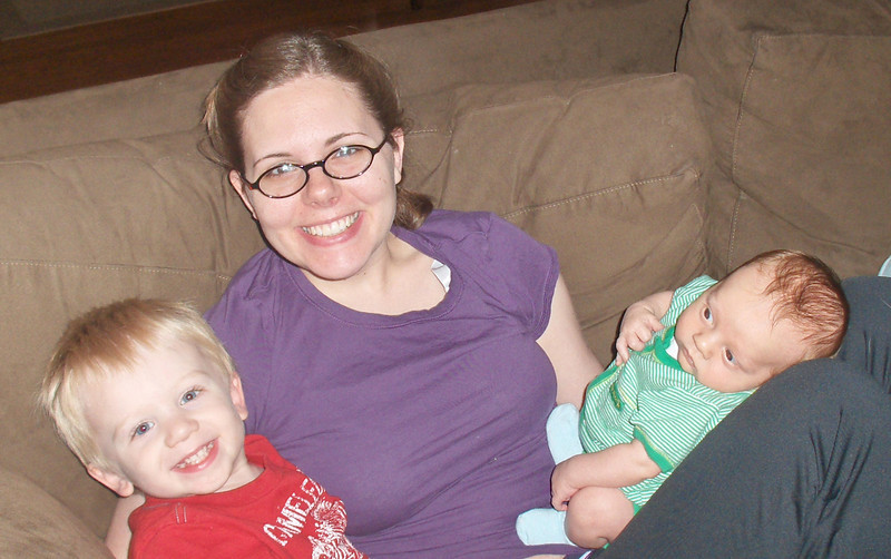 Soren, Elliott, and Jenny Swenson, June 2008