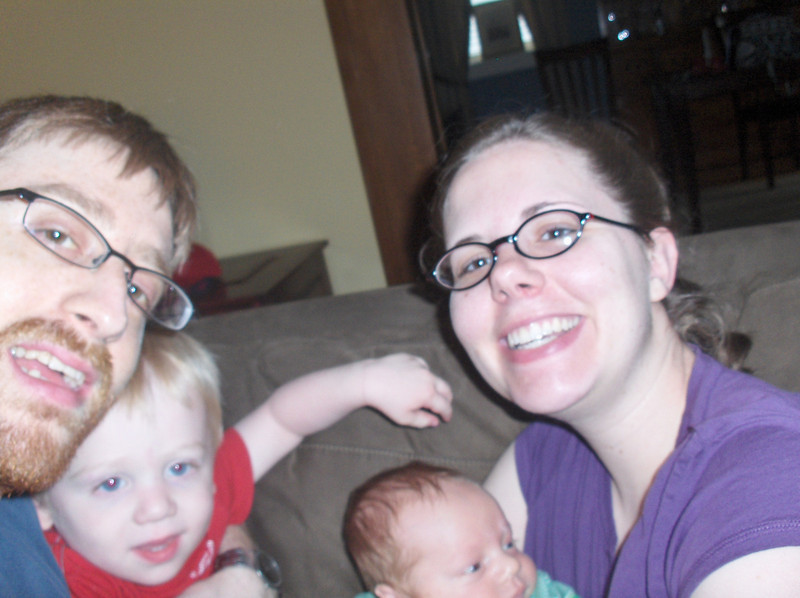 Soren, Elliott, Josh, and Jenny Swenson, June 2008