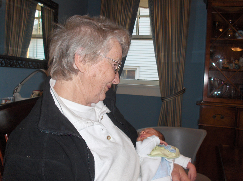 Soren Swenson with Great-Grandmother Oldenburg, May 2008