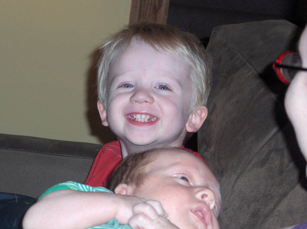 Soren and Elliott Swenson, June 2008