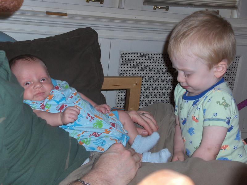 Soren and Elliott Swenson, June 2008