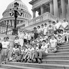 Photo of Paul E. Tsongas with Hingham Boy Scout Troop