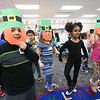LEANDRA BEABOUT | THE GOSHEN NEWS<br /> Students at West Goshen Elementary School dance an Irish jig in Carrie Garber's kindergarten class.