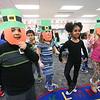 LEANDRA BEABOUT | THE GOSHEN NEWS<br /> Students at West Goshen Elementary School dance an Irish jig in Carrie Garber's kindergarten class.