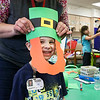 LEANDRA BEABOUT | THE GOSHEN NEWS<br /> Lucas Harlan, a kindergarter at West Goshen Elementary School, is helped by his teacher, Carrie Garber.