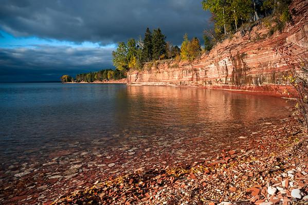Early Morning Light on Lake Superior, Jacobsville, MI