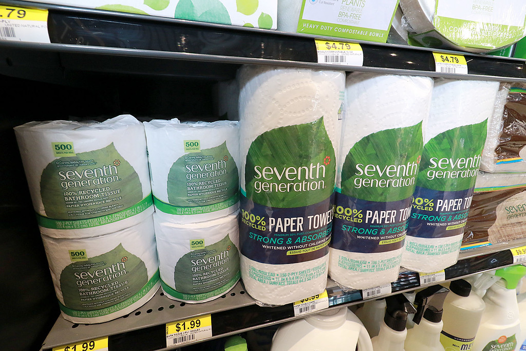 . Ashburnham\'s newly-built Alltown convenience store opened to the public on Thursday, August 23, 2018. They store sells recycled paper towels and bathroom tissues. SENTINEL & ENTERPRISE/JOHN LOVE