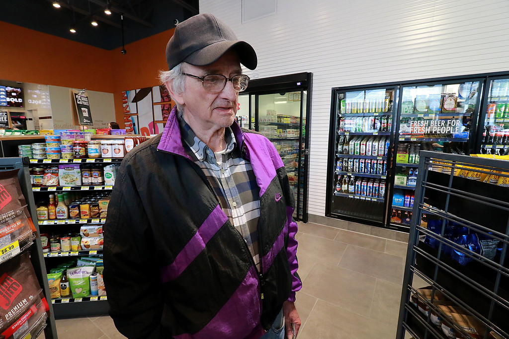 . Ashburnham\'s newly-built Alltown convenience store opened to the public on Thursday, August 23, 2018. Stephen Caisse of Ashburnham talks about how he likes the new store. SENTINEL & ENTERPRISE/JOHN LOVE