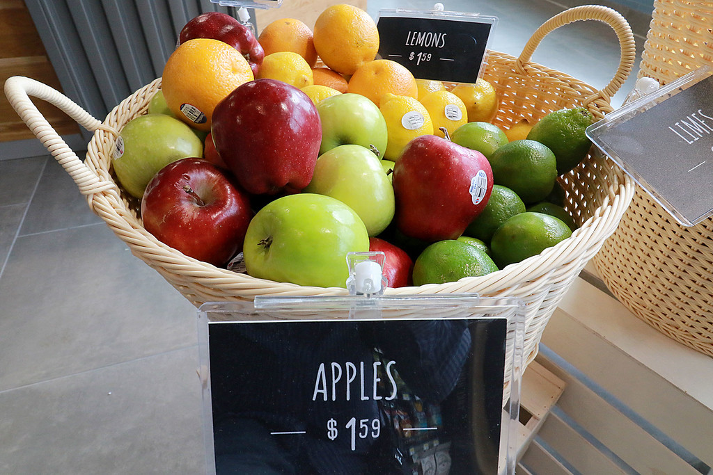 . Ashburnham\'s newly-built Alltown convenience store opened to the public on Thursday, August 23, 2018. They sell oranges, lemons, limes and apples. SENTINEL & ENTERPRISE/JOHN LOVE