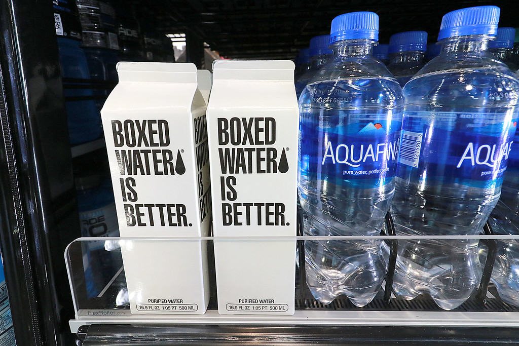 . Ashburnham\'s newly-built Alltown convenience store opened to the public on Thursday, August 23, 2018. They have many brands of water for sale, even boxed water. SENTINEL & ENTERPRISE/JOHN LOVE