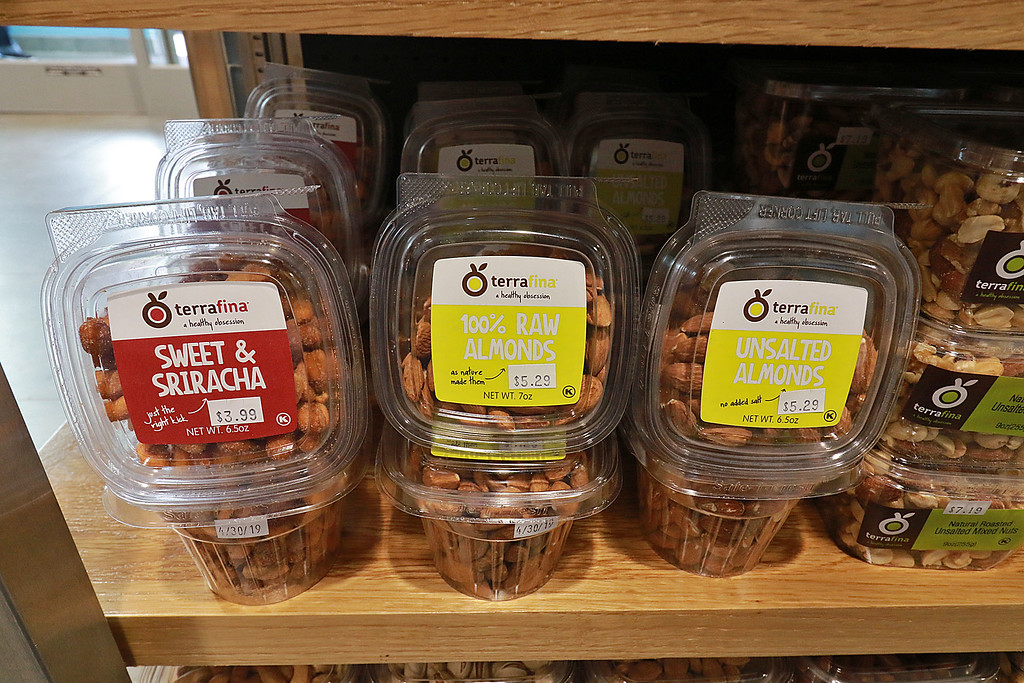 . Ashburnham\'s newly-built Alltown convenience store opened to the public on Thursday, August 23, 2018. Just some of the nuts they have on sale. SENTINEL & ENTERPRISE/JOHN LOVE