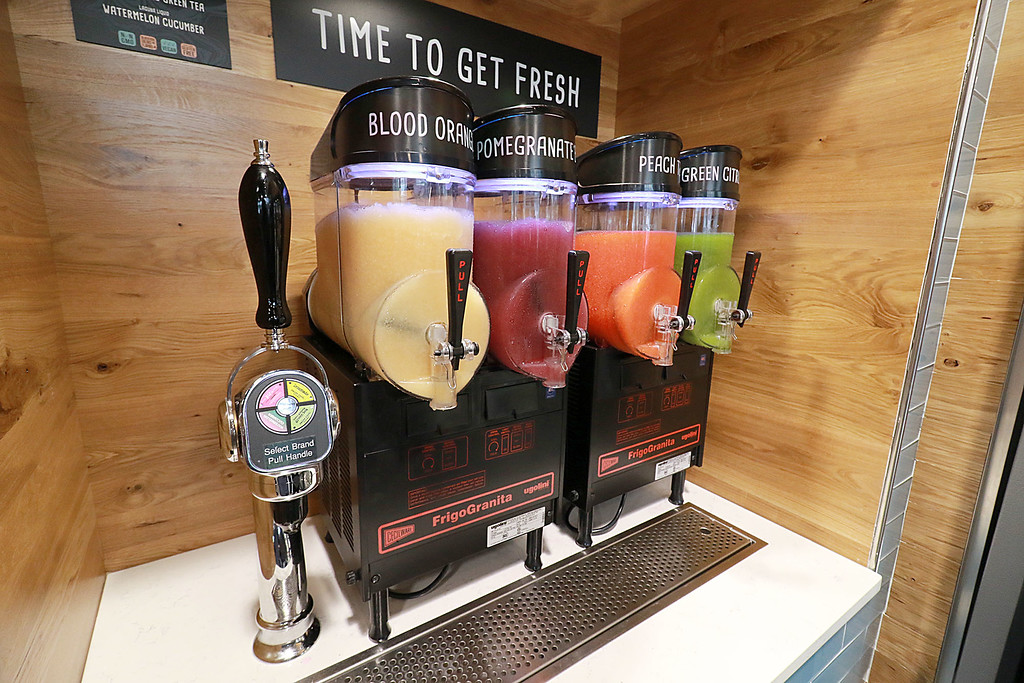 . Ashburnham\'s newly-built Alltown convenience store opened to the public on Thursday, August 23, 2018. They have four different types of slushies. SENTINEL & ENTERPRISE/JOHN LOVE