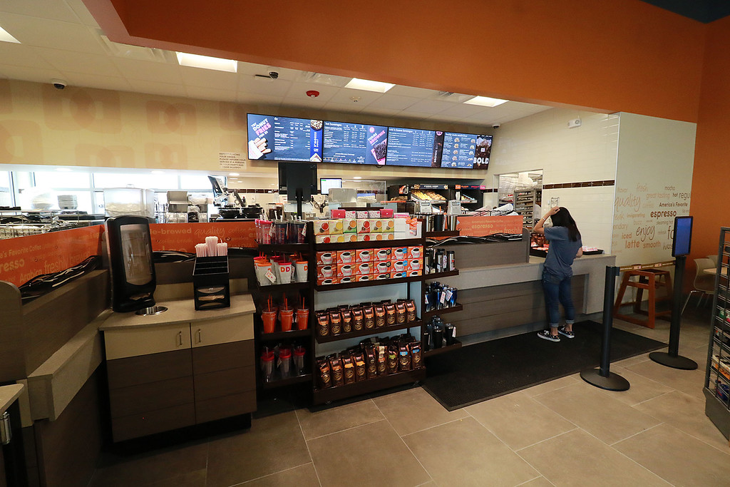 . Ashburnham\'s newly-built Alltown convenience store opened to the public on Thursday, August 23, 2018. Inside the new store is a Dunkin Donuts. SENTINEL & ENTERPRISE/JOHN LOVE