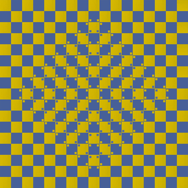 Bulging Checkerboard Illusion 001