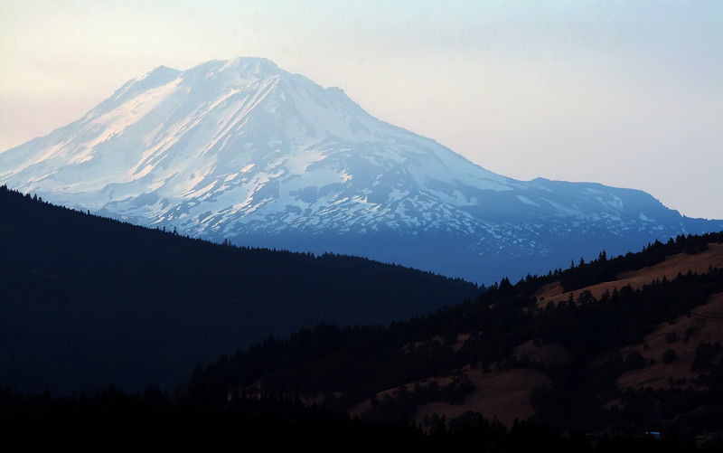 A hazy shot of the south side of Mt. Adams. One week before the Cold Springs fire was reported. Authorities are saying the fire was actually smoldering at the time of the picture.
