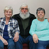 Mary Parke-Plummer and her sister Myrle Phaneuf, better known as Jinxie on right, sit with their brother Ralph Whipple Newell, better known as Whip, on Monday morning. The sisters where reunited with their brother after 68 years. SENTINEL & ENTERPRISE/JOHN LOVE