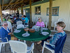 The entire outside dining room occupied by astronomers at the Likely Place.