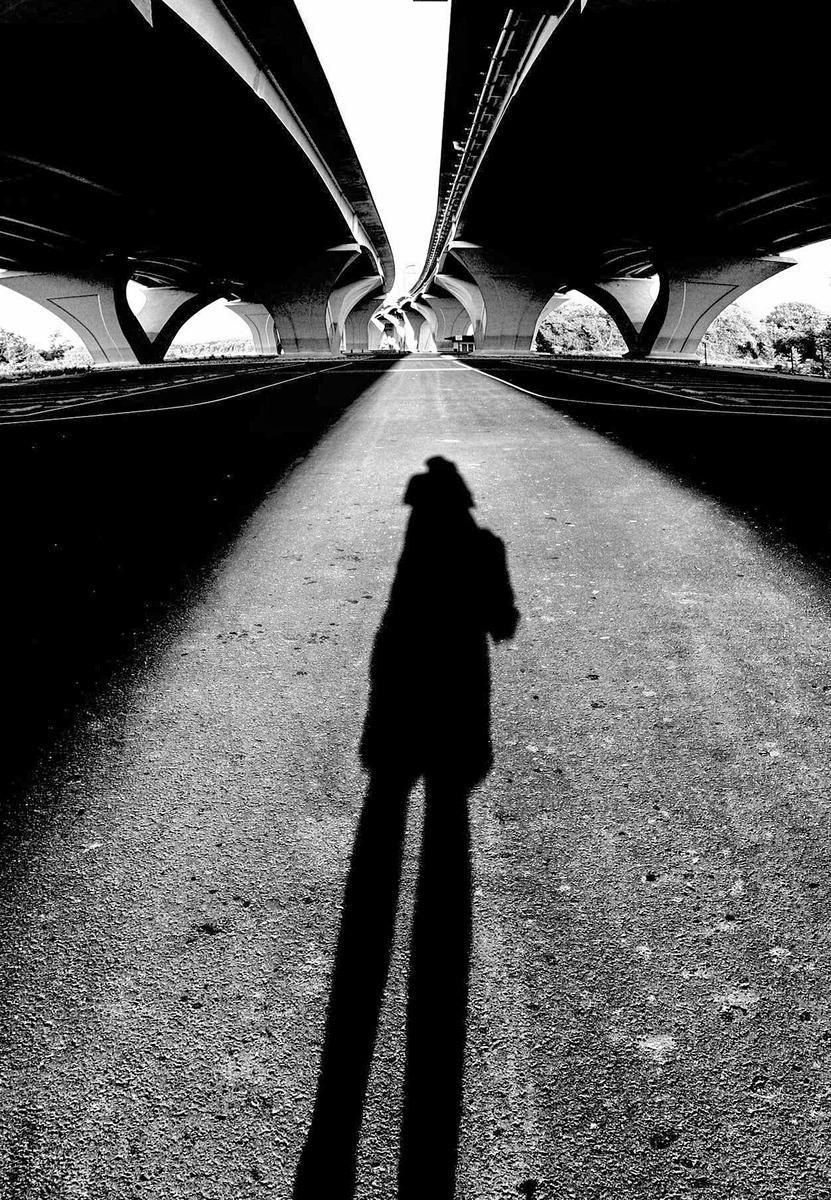 The photographers shadow