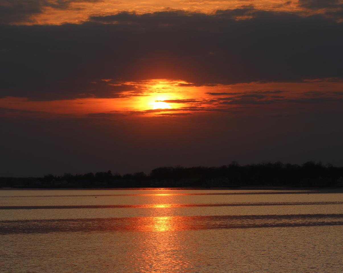 Sunset from West Beach - Hammonasset
