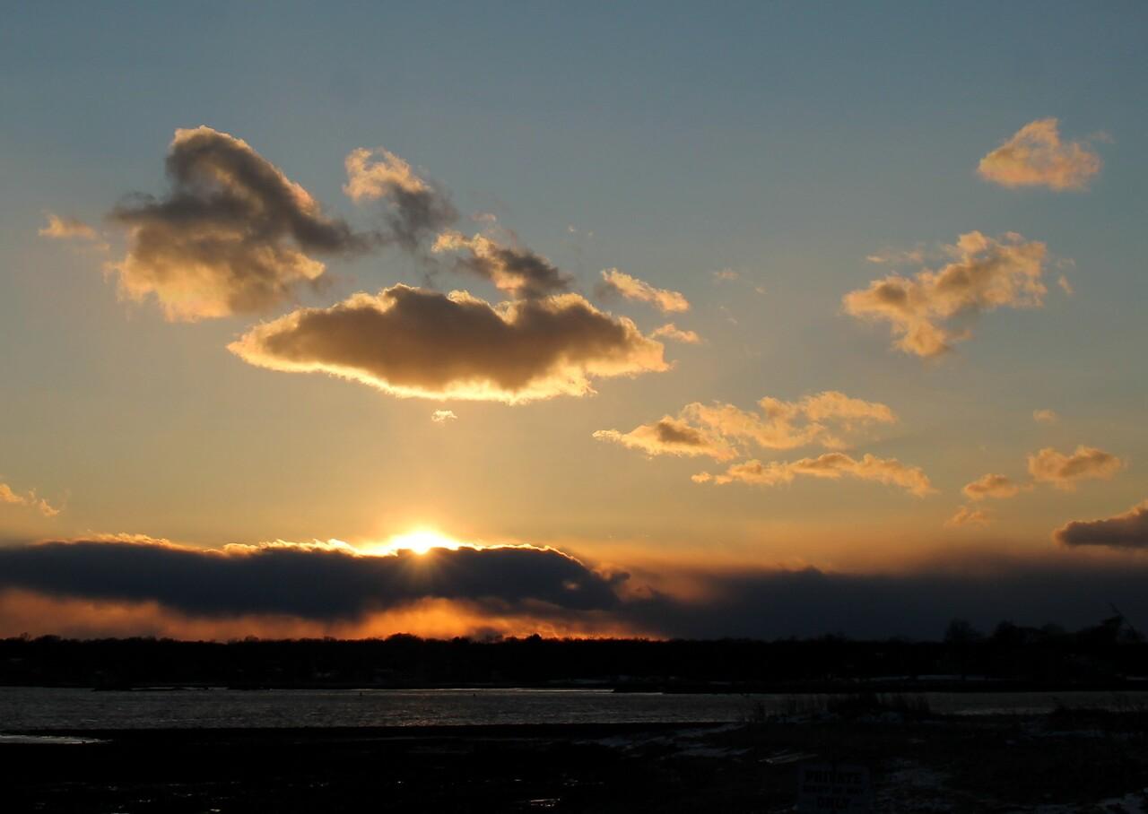 Sunset at Guilford Harbor 3/11/17