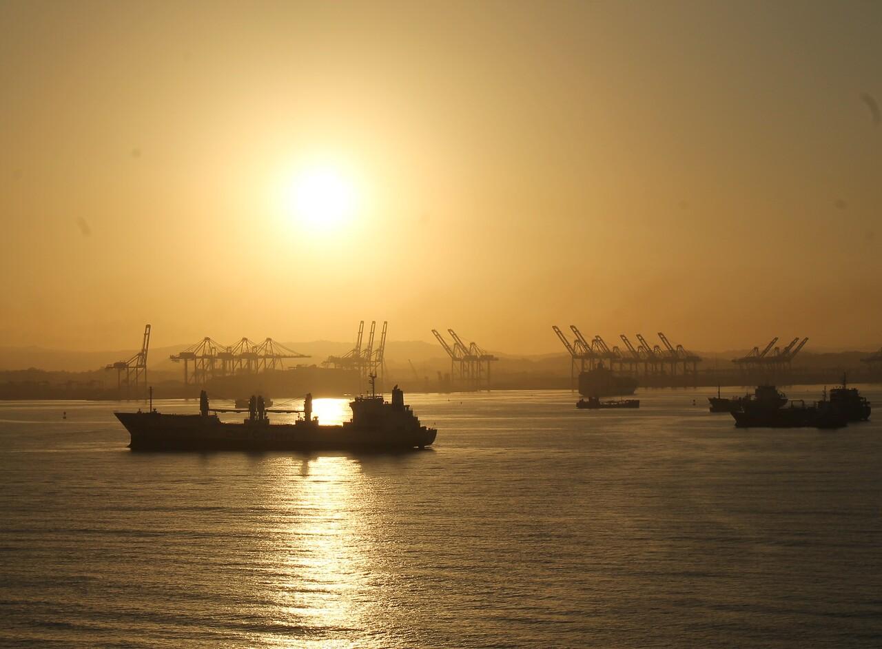 Sunrise - Panama Canal 1/20/17