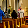 KRISTOPHER RADDER — BRATTLEBORO REFORMER<br /> The Rev. Justin Baker, of Saint Michael's Catholic Church in Brattleboro, Vt., holds an unannounced Mass during Lent on Saturday, March 21, 2020. The Mass was filmed by the local public television station, Brattleboro Community TV, and is scheduled to air Sunday and Tuesday. The Mass, which is normally filmed, is a way people can still attend Lent Mass during the COVID-19 outbreak. This was the first time that normal Mass was canceled.