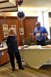 Mike thanks Marlene for all of her years of service
