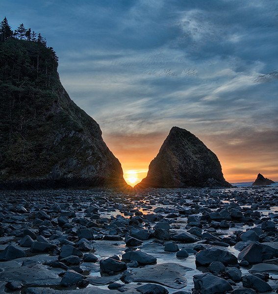 Sunset at Arch Cape