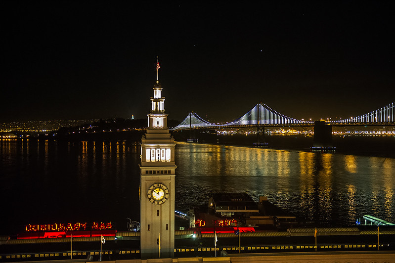 Ferry Building and Bay Bridge
