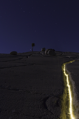 Olmsted Point, Yosemite .: Lighting the crack...