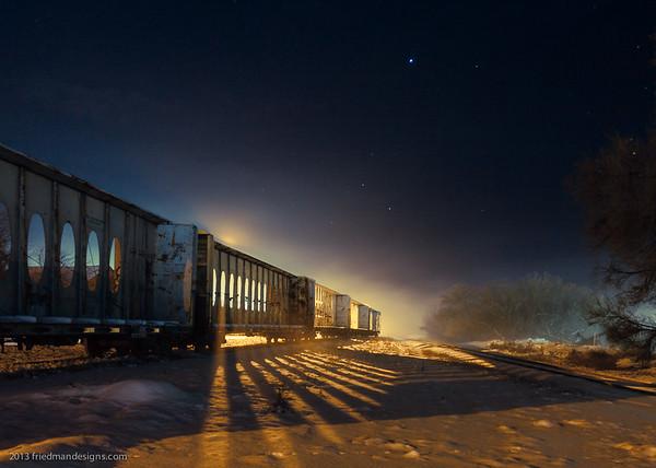 February fog train