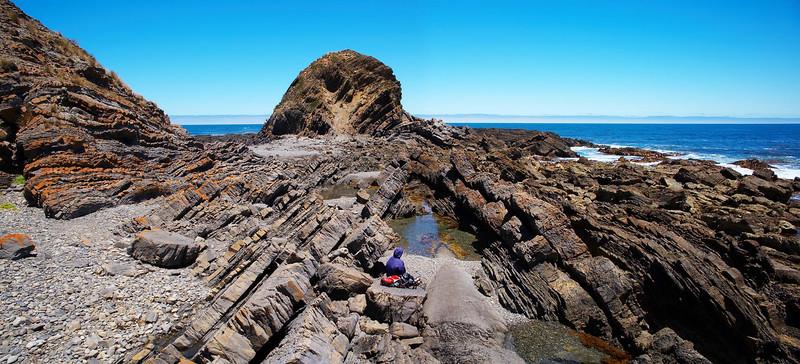 Fold in the rock, Cape Liptrap