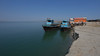 All trucks have to go across the Brahmaputra by boat (well, two boats for each truck).