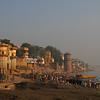 The ghats at Varanasi