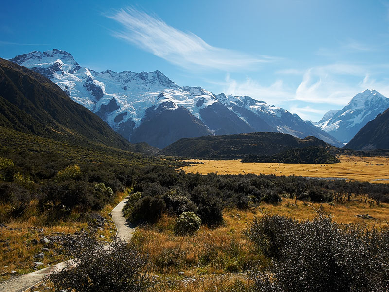 The walk to Mt Cook