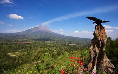 Central and West Java - Papandayan and Merapi